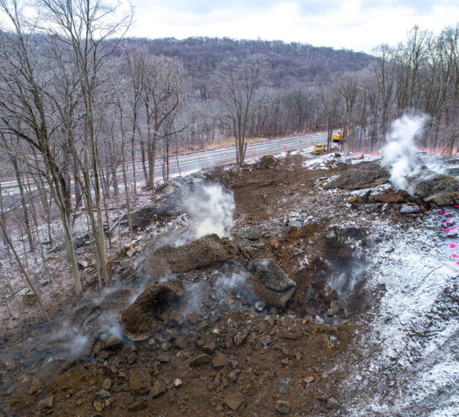 Baystate Blasting - Taconic State Parkway. Photo by Photoflight